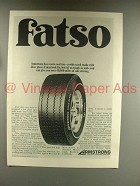 1968 Armstrong Fatso Super HPG Tire Ad!
