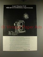1968 Mamiya C220 TLR Camera Ad - Improvements