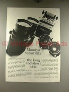 1968 Mamiya C33 TLR Camera Ad - Long and Short of It