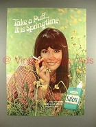 1969 Salem Cigarette Ad - Take A Puff It is Springtime