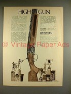 1969 Browning Superposed Shotgun Ad - High Gun