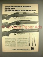 1969 Ruger M/77 Bolt Action, No.1 Single-Shot Rifle Ad