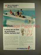 1969 Evinrude Starflite 115-S Outboard Motor Ad!