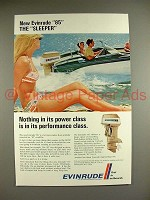 1969 Evinrude 85 Outboard Motor Ad - The Sleeper
