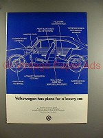 1969 Volkswagen VW Fastback Car Ad - Plans for Luxury