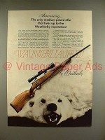 1970 Weatherby Vanguard Rifle Gun Ad - Lives Up to