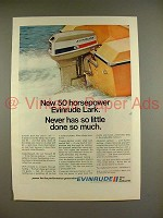 1970 Evinrude Lark Outboard Motor Ad - Done so Much