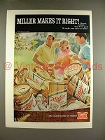 1970 Miller High Life Beer Ad - Makes it Right!