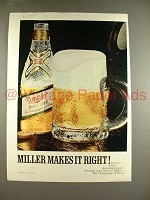 1970 Miller High Life Beer Ad - Miller Makes it Right!