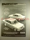 1970 Toyota Mark II Car Ad - Is A Puzzlement!