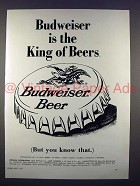 1971 Budweiser Beer Ad - The King of Beers!