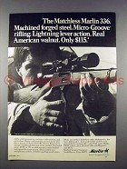 1971 Marlin 336 Rifle Ad - Lightning Lever Action!