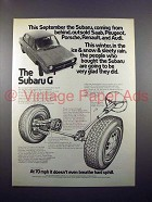 1971 Subaru G Car Ad - Coming from behind, Outsold!