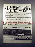 1971 Volvo Car Ad - The Less You Know about Cars!