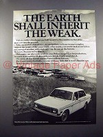 1971 Volvo Car Ad - Earth Shall Inherit the Weak