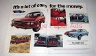 1971 Audi Car Ad - Lot of Cars for the Money!
