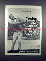 1972 March of Dimes Ad w/ Arnold Palmer!