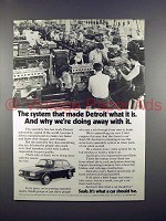 1973 Saab 99 Car Ad - We're Doing Away With It!