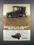 1973 Audi Car Ad - Before There Was A Model T