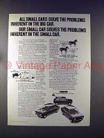 1972 Fiat 128 Car Ad - All Small Cars Solve Problems