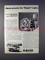 1972 Mazda RX-2 Coupe Car Ad - Elegant Engine