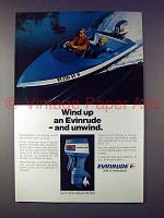 1973 Evinrude Outboard Motor Ad - Wind Up and Unwind