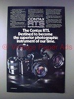 1976 Contax RTS Camera Ad - Superior Instrument!