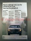 1981 Cadillac Car Ad - Mileage You Can Be Proud Of