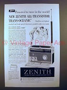1958 Zenith Royal 1000 Trans-Oceanic Radio Ad!