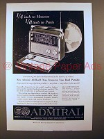 1959 Admiral All-World Model 909 Transistor Radio Ad