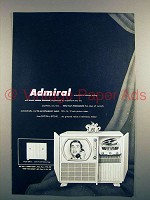 1950 Admiral Television Ad - Equisite Cabinet Styling