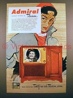 1951 Admiral 321K18 Television Ad - Clearest Picture