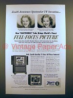 1951 Zenith Wordsworth Television TV Ad!