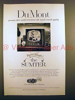1951 Du Mont Sumter Television Ad - Table Model