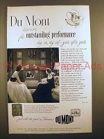 1951 Du Mont Mt. Vernon Television TV Ad - Performance