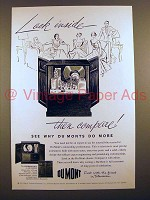 1951 Du Mont Sherbrooke TV Ad - Look Inside!