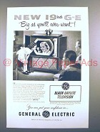 1951 General Electric Model 19C105 TV Ad - 19 Inch