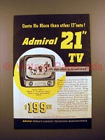 1952 Admiral Model 121DX11 Television Ad!