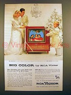1955 RCA Victor Director 21 TV Ad - Big Color!