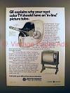 1976 GE Television Ad - Have an In-Line Picture Tube