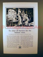 1931 AT&T Telephone Ad - Clear Barriers For Human Voice