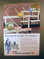 1960 General Telephone Ad - Clearing The Hurdles!