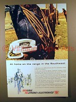 1961 General Telephone Ad - At Home On The Range!