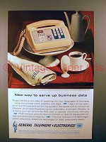 1962 General Telephone Ad - Serve up Business Data