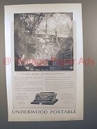 1923 Underwood Portable Typewriter Ad - Winged!