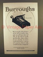 1925 Burroughs Adding Machine Ad - Quality!