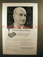 1951 Dictaphone TimeMaster Ad, Dr Ernest Martin Hopkins