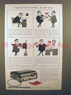 1955 Dictaphone Time-Master Dictating Machine Ad!