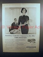 1958 Dictaphone Time-Master Dictation Machine Ad - This Office
