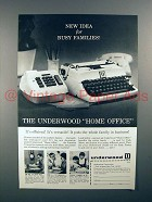 1960 Underwood Home-Office Typewriter, Add-Mate Ad!